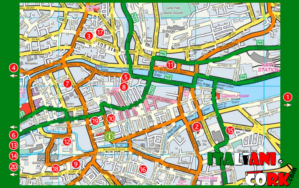 Mappa di Cork: cosa vedere nella Rebel City!